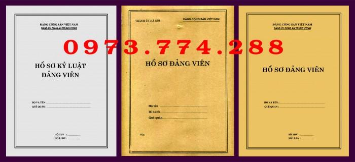 Bì, bìa, túi, vỏ đựng bộ hồ sơ Đảng viên22