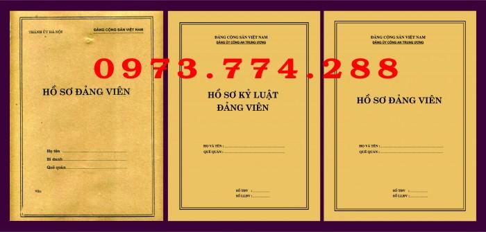 Bì, bìa, túi, vỏ đựng bộ hồ sơ Đảng viên21