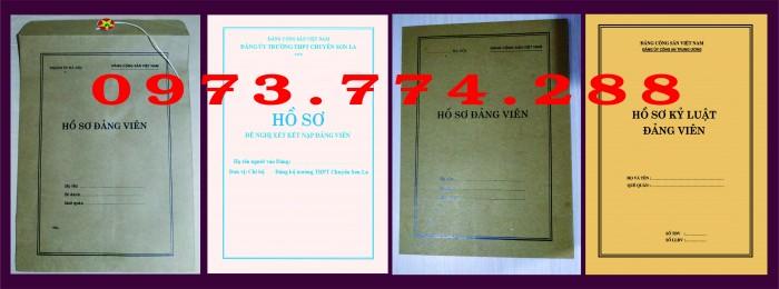 Bì, bìa, túi, vỏ đựng bộ hồ sơ Đảng viên20