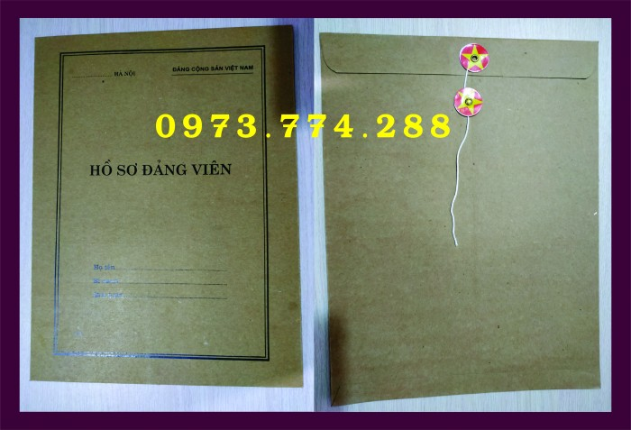 Bì, bìa, túi, vỏ đựng bộ hồ sơ Đảng viên18