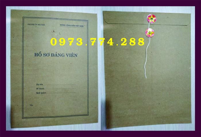 Bì, bìa, túi, vỏ đựng bộ hồ sơ Đảng viên15