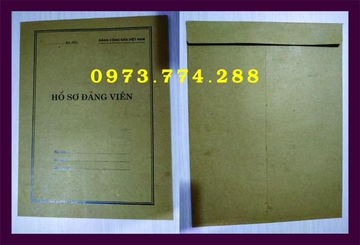 Bì, bìa, túi, vỏ đựng bộ hồ sơ Đảng viên12