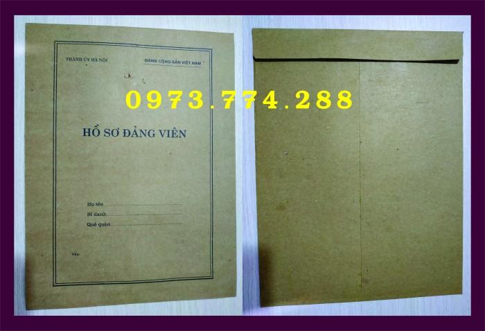 Bì, bìa, túi, vỏ đựng bộ hồ sơ Đảng viên10