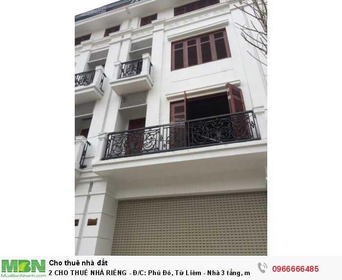 CHO THUÊ NHÀ RIÊNG - Đ/C:  Phú Đô,  Từ Liêm - Nhà 3 tầng, mặt tiền 3,3m - Diện tích sàn 40m2