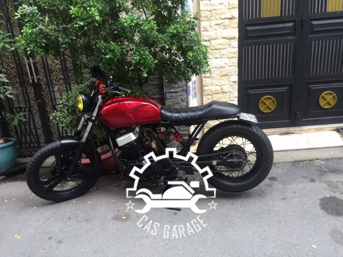 Husky SYM 125cc lên tracker (CAS garage)