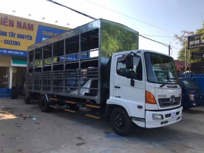 Xe tải chở xe máy Hino FC Euro4, thùng dài 9m, trả trước 200 triệu có xe giao ngay 2