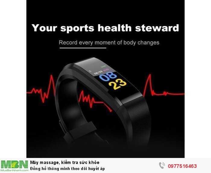 Đồng hồ thông minh theo dõi huyết áp2