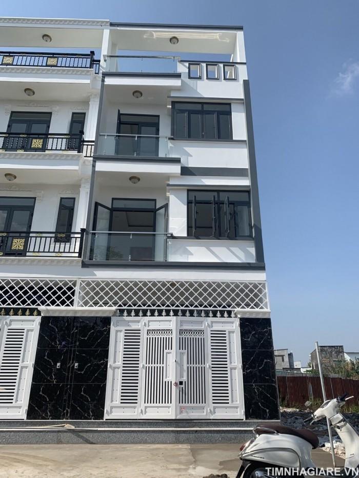 Nhà góc hai mặt tiền hẻm 2177 Huỳnh Tấn Phát, Nhà Bè, Tp.HCM. DT 52m2. 2 lầu 4PN, 5WC