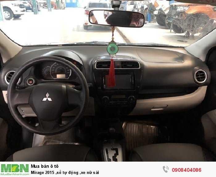 Mirage 2015 ,số tự động ,xe nữ sài
