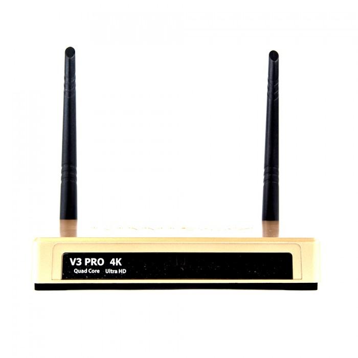 Android Tivi box Kiwi V3 Pro thiết kế 2 anten nên thu sóng Wifi cực mạnh2