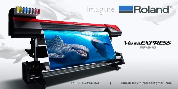 Máy in decal Roland VersaExpress RF640 sắc nét, một đầu phun, in chữ nhỏ sắc nét và màu sắc đẹp Roland - Nhật Bản0