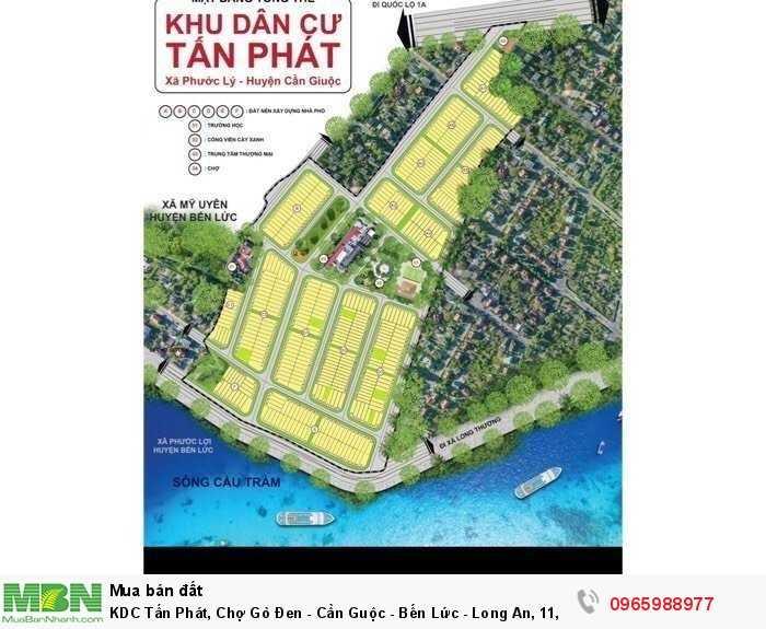 KDC Tấn Phát, Chợ Gò Đen - Cần Guộc - Bến Lức - Long An, 11,9 tr/m2. Giá rẻ - lợi nhuận cao