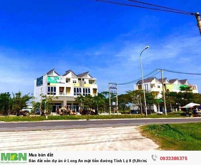 Bán đất nền dự án ở Long An mặt tiền đường Tỉnh Lộ 8 (9,8tr/m2)