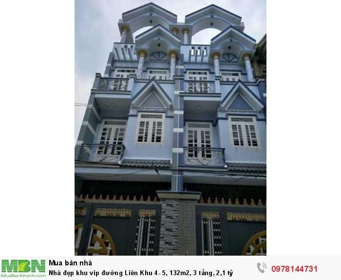 Nhà đẹp khu vip đường  Liên Khu 4- 5, 132m2, 3 tầng