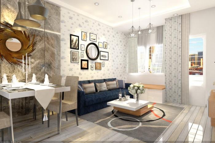 Bán căn hộ Khánh Hội 1, Q4, Diện tích 76m2, 2PN, 1WC, tặng nội thất, decord theo phong cách châu âu