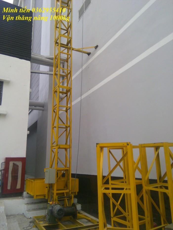 lắp giáp vận thăng nâng hàng 1000kg tại công trình Vinacomec6
