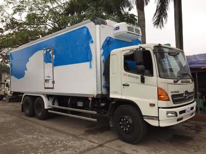 Xe tải Hino 16 tấn thùng đông lạnh 0