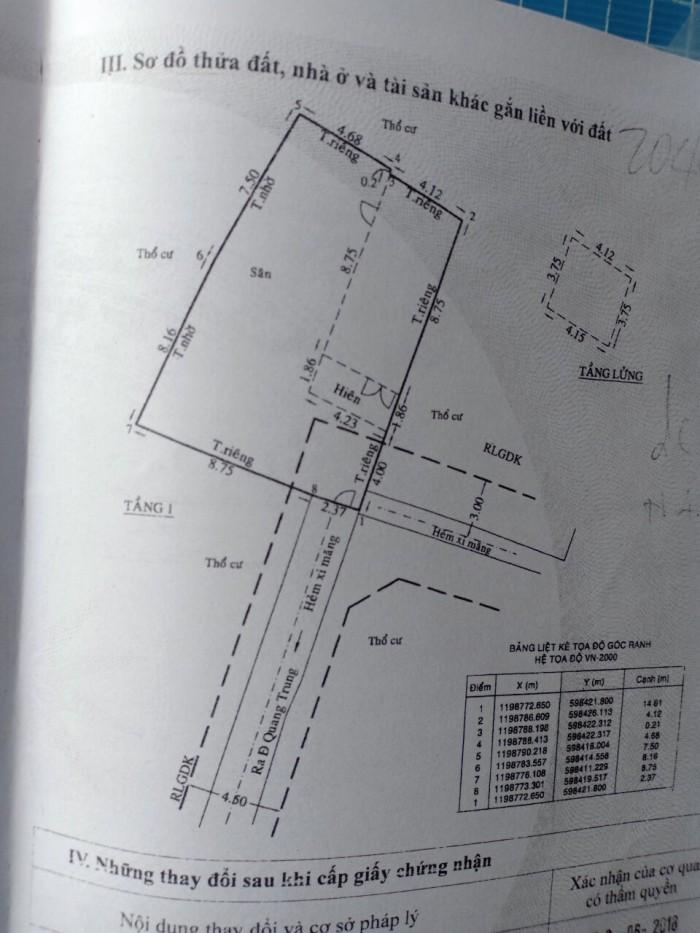 Bán Gấp Biệt Thự Mặt Tiền 896/19 Quang Trung. p8. Gò Vấp.