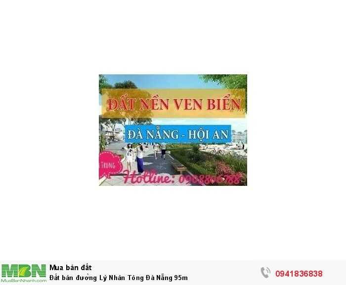 Đất bán đường Lý Nhân Tông Đà Nẵng 95m
