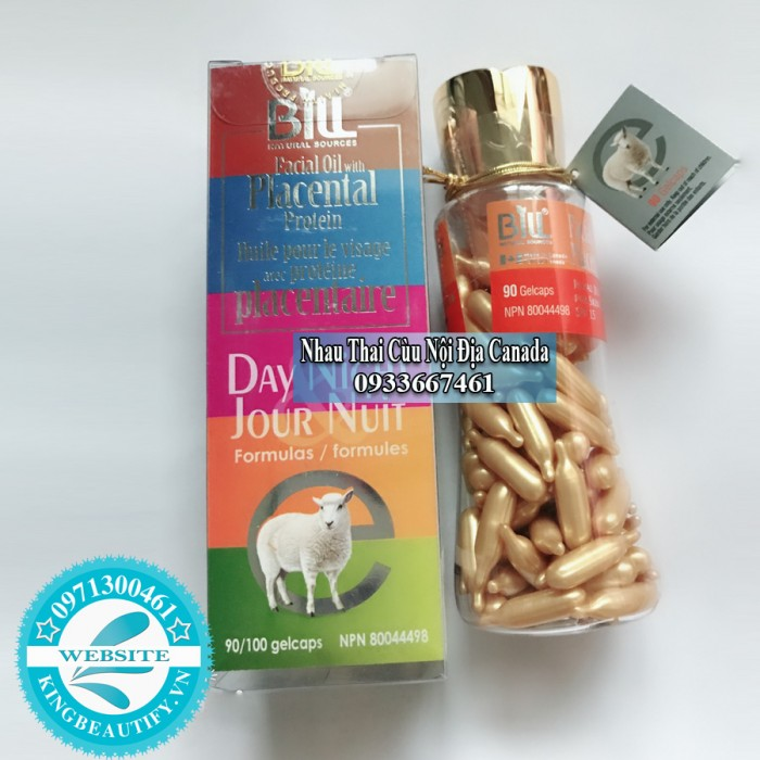 Nhau Thai Cừu Sữa Ong Chúa và Vitamin E Dành cho ban ngày SPF/15, 90 Viên Nang.