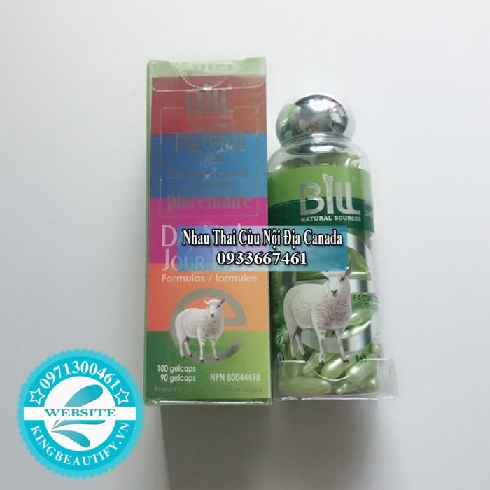 Nhau Thai Cừu Nha Đam & Vitamin E Bill Natural Sources, 100 viên nang