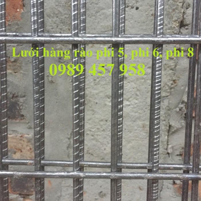 Sản xuất lưới thép hàn phi 6 đổ bê tông 100x100, 150x150, 200x200, lưới hàn chập phi 6 làm hàng rào2