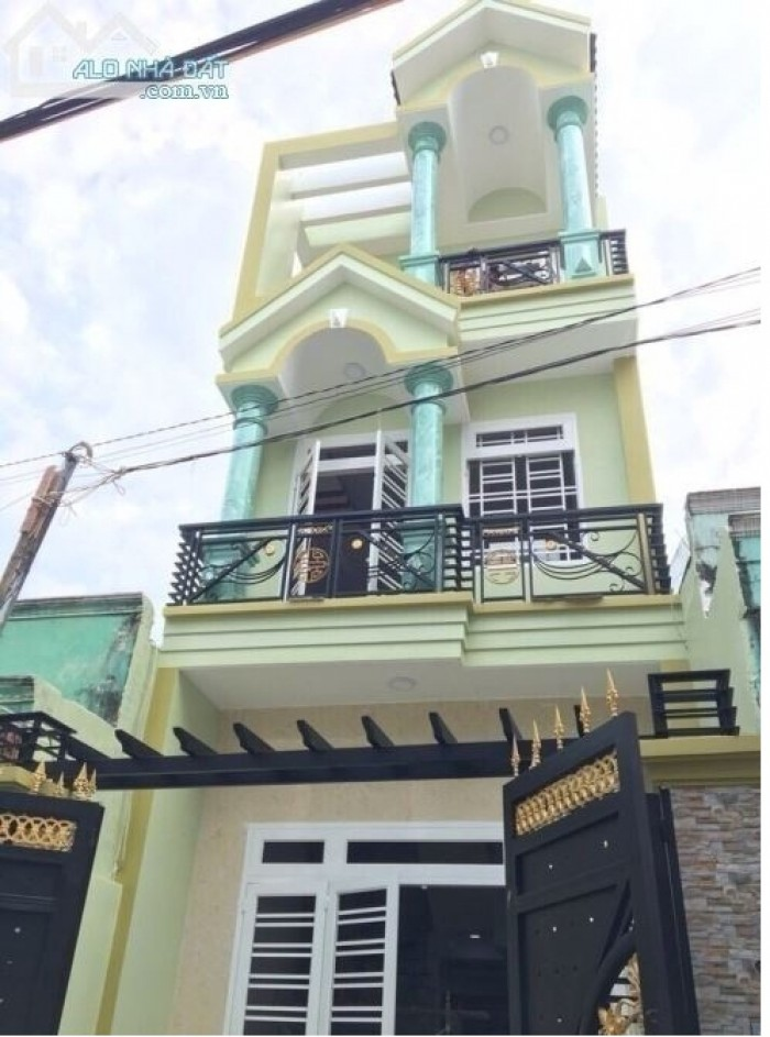 Nhà mới xây 1/Phan Huy Ích HXH ngay sân gold TPHCM