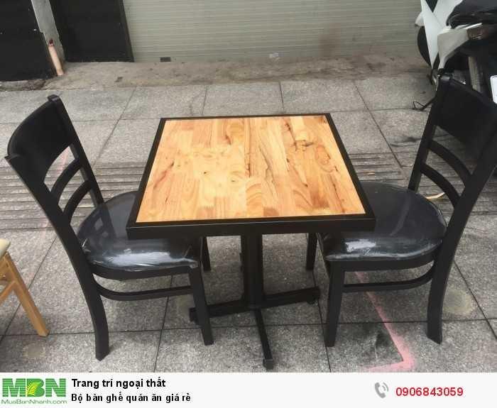 Bộ bàn ghế quán ăn giá rẻ0