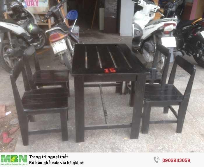Bộ bàn ghế cafe vỉa hè giá rẻ0