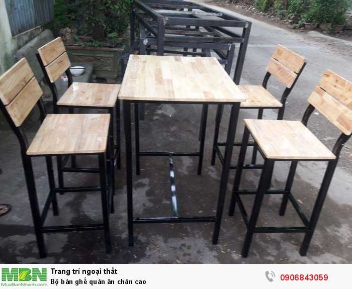 Bộ bàn ghế quán ăn chân cao 0
