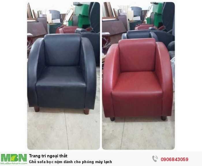 Ghế sofa bọc nệm dành cho phòng máy lạnh0