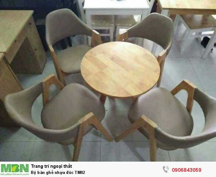 Bộ bàn ghế nhựa đúc TM020
