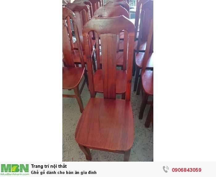 Ghế gỗ dành cho bàn ăn gia đình0