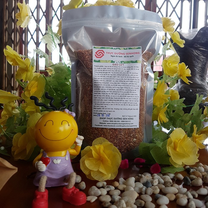 Gạo lứt đỏ 6 tháng hữu cơ, không thuốc trừ sâu, không phân hóa học, không phẩm màu, không chất bảo quản6