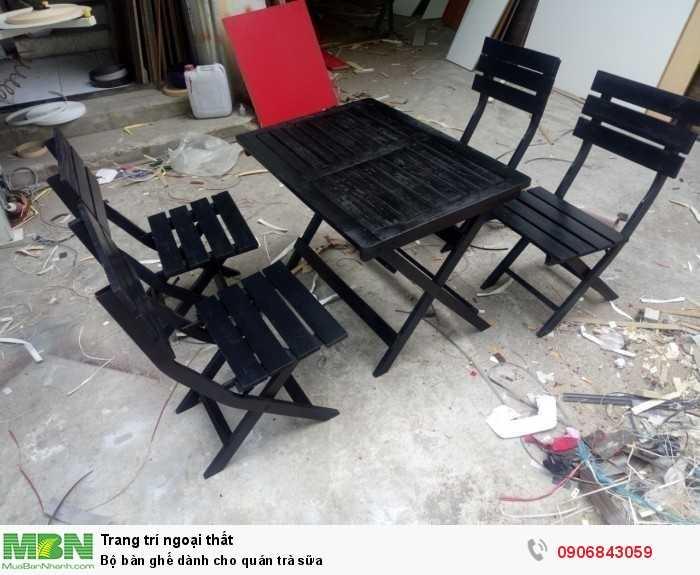 Bộ bàn ghế dành cho quán trà sữa