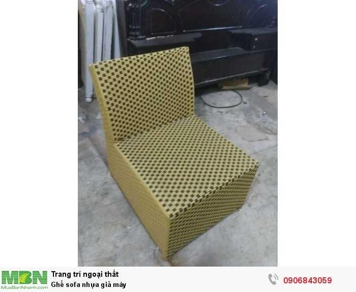 Ghế sofa nhựa giả mây0