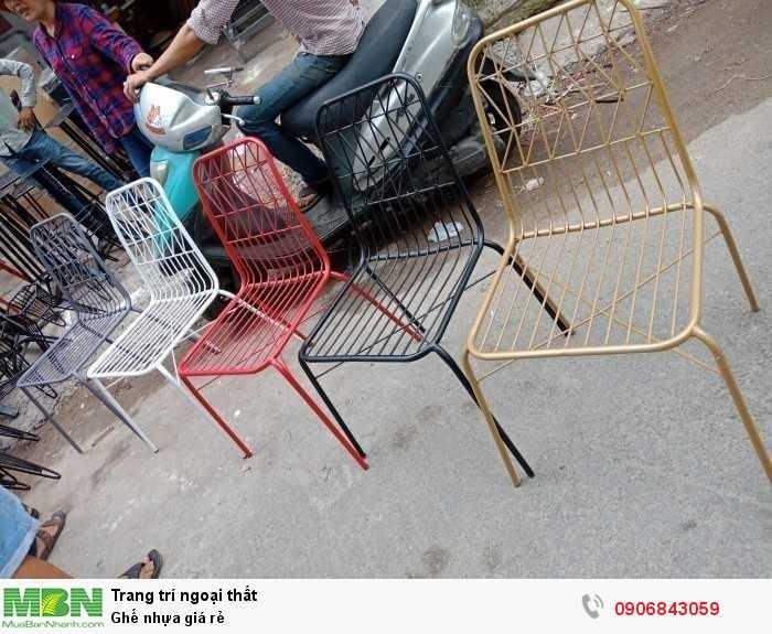 Ghế nhựa giá rẻ0