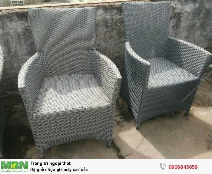Bộ ghế nhựa giả mây cao cấp0