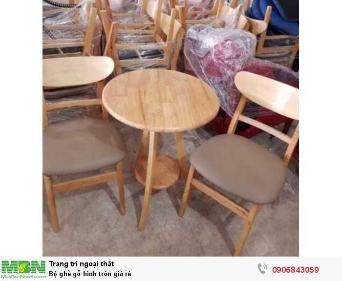 Bộ ghế gỗ hình tròn giá rẻ0