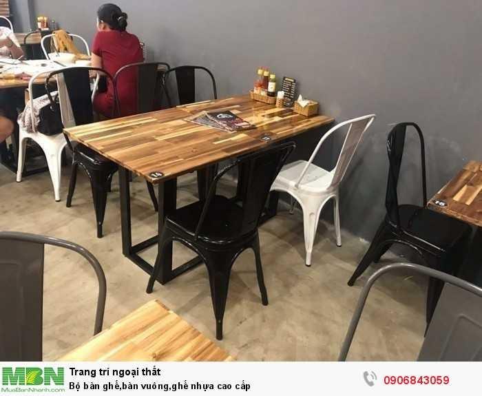 Bộ bàn ghế,bàn vuông,ghế nhựa cao cấp0