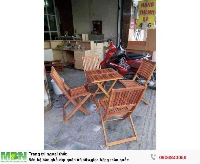Bán bộ bàn ghế xúp quán trà sữa,giao hàng toàn quốc0