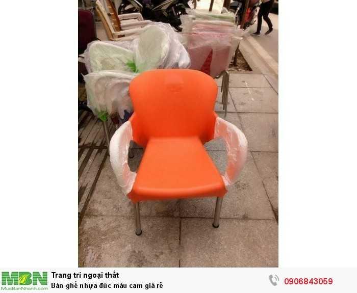 Bán ghế nhựa đúc màu cam giá rẻ0