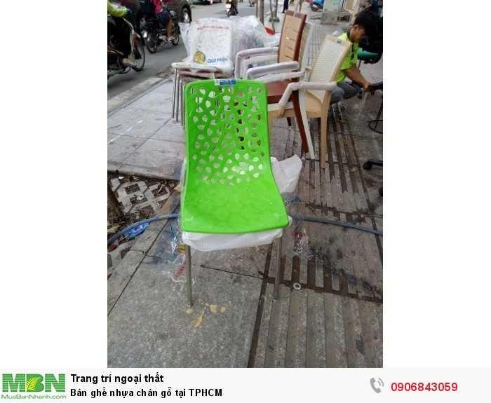 Bán ghế nhựa chân gỗ tại TPHCM0