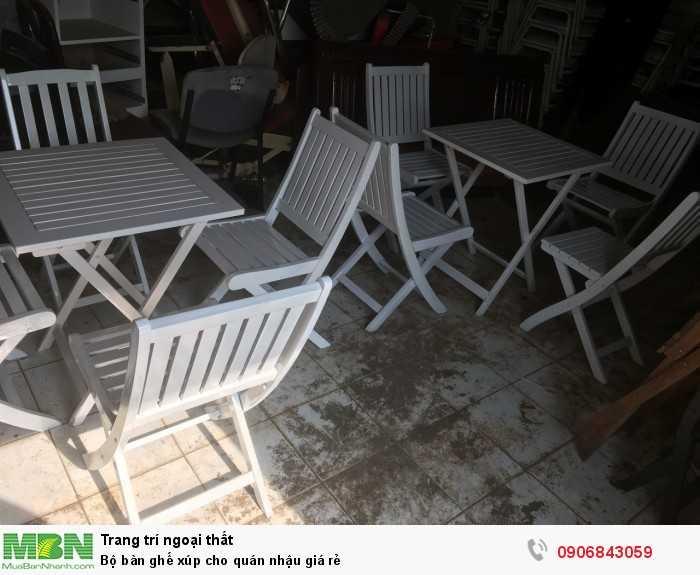 Bộ bàn ghế xúp cho quán nhậu giá rẻ0
