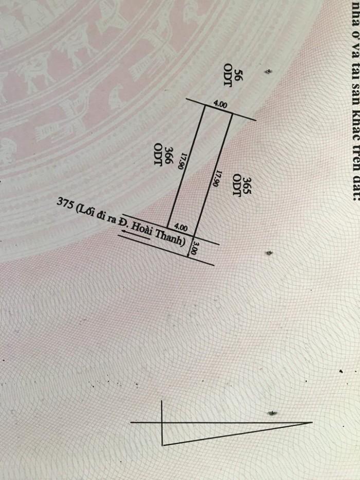 Bán đất giá rẻ tại Hoài Thanh chỉ 395tr. Huế
