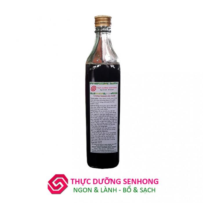 Tương tamari lâu năm (7 năm 500ml) Thực dưỡng Sen Hồng