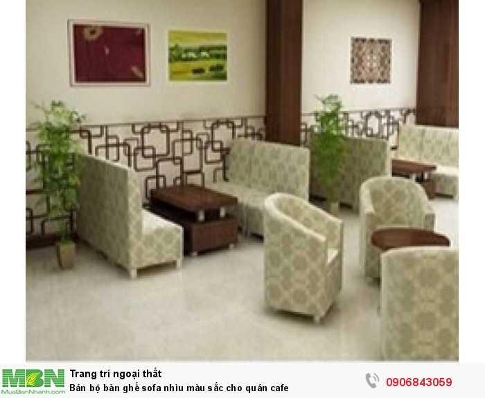 Bán bộ bàn ghế sofa nhìu màu sắc cho quán cafe0