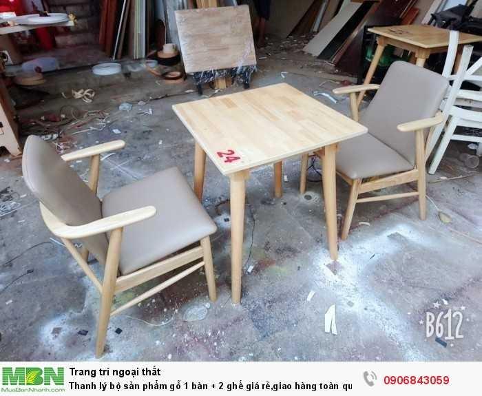 Thanh lý bộ sản phẩm gỗ 1 bàn + 2 ghế giá rẻ,giao hàng toàn quốc0
