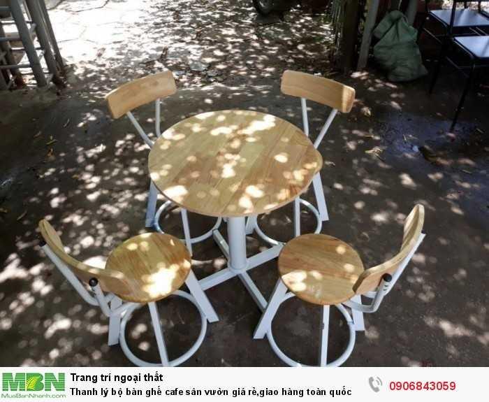 Thanh lý bộ bàn ghế cafe sân vườn giá rẻ,giao hàng toàn quốc