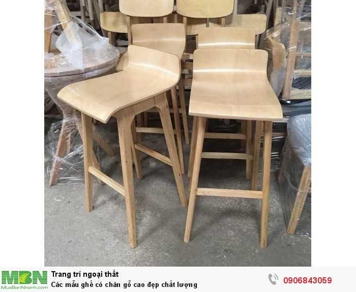 Các mẫu ghế có chân gỗ cao đẹp chất lượng0